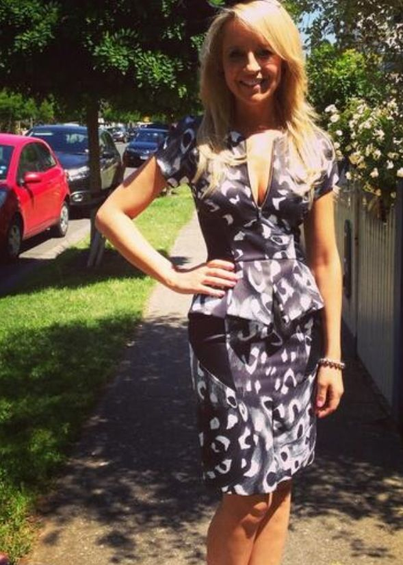 Carrie Bickmore cute dress