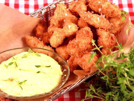 Kycklingnuggets med currydipp   Recept från Köket.se