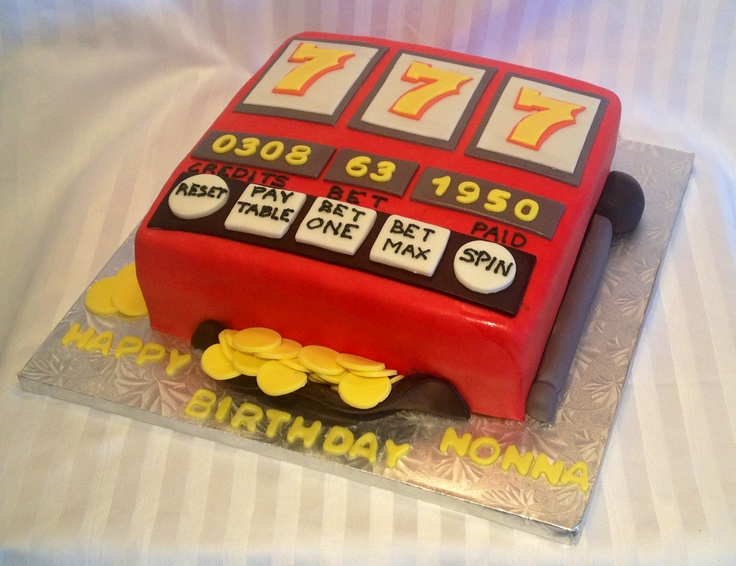 Slot Machine Birthday Cake!  Chocolate with Dulce de Leche