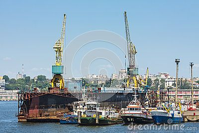 Towboats And Cranes In Shipyard - Download From Over 24 Million High Quality Stock Photos, Images, Vectors. Sign up for FREE today. Image: 41333056