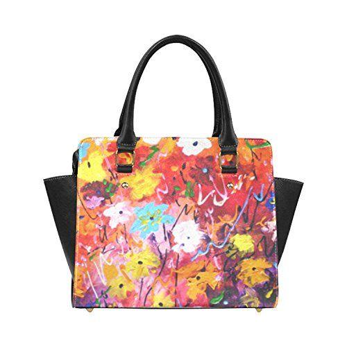 e9a24b047091 Amilly Custom Abstract Flower Design Fashion Shoulder Bag PU leather ...