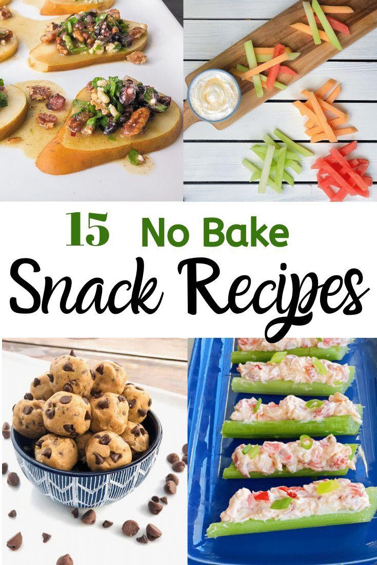 15 Easy No Bake Snack Recipes In 2020 Healthy Snacks Recipes Vegan Recipes Easy No Bake Snacks
