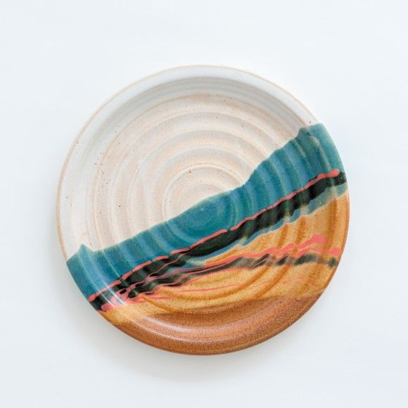 ROBERT BLUE, DINNER PLATE: made by hand, stoneware.