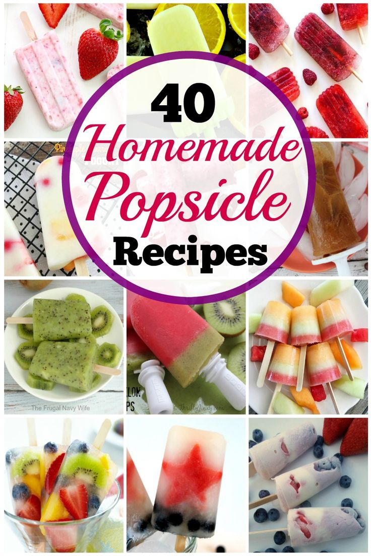 Popsicles are not just for kids! In fact, this list of 40 creative homemade Popsicle recipes offers ideas for everyone's taste buds. From fruit and yogurt to fudge and coffee, you will find unique flavors and ingredients that turn an ordinary ice pop into a fun dessert.