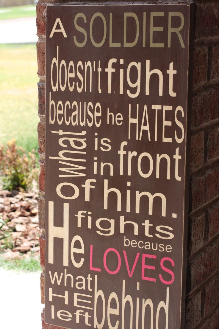 A Soldier Typography. customized sign 11x24  support our troops. Subway art.. $55.00, via Etsy.