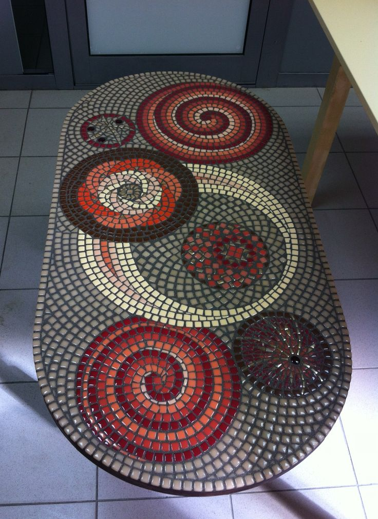 Mosaic table or entry installation