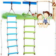 #Banggood нагрузка 120кг на открытом воздухе в помещении пластиковые лестницы веревки детские площадки игры для детей восхождение колебание веревки (1115449) #SuperDeals