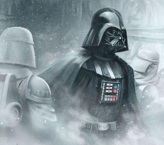 Vader on Hoth: Darth Vader, Stars War Art, Inner Geek, Illustration, Movie Stars, Tony Foti, Fans Art, Cards Games, Starwars