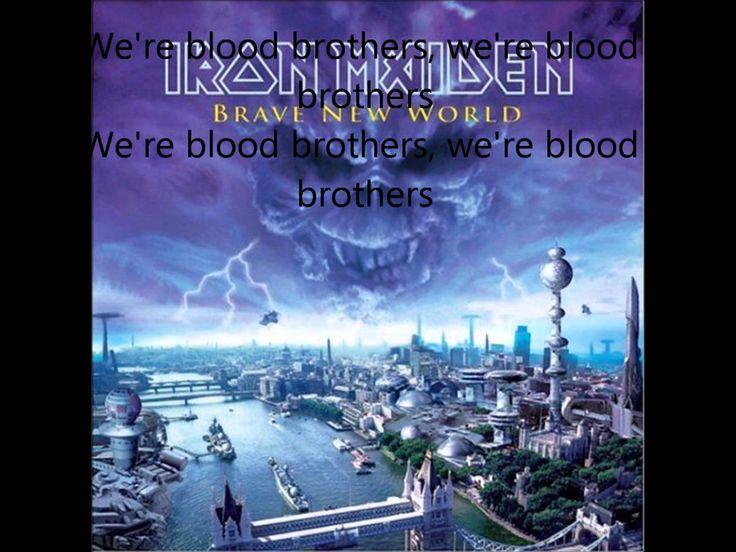 Iron Maiden - Blood Brothers (lyrics)