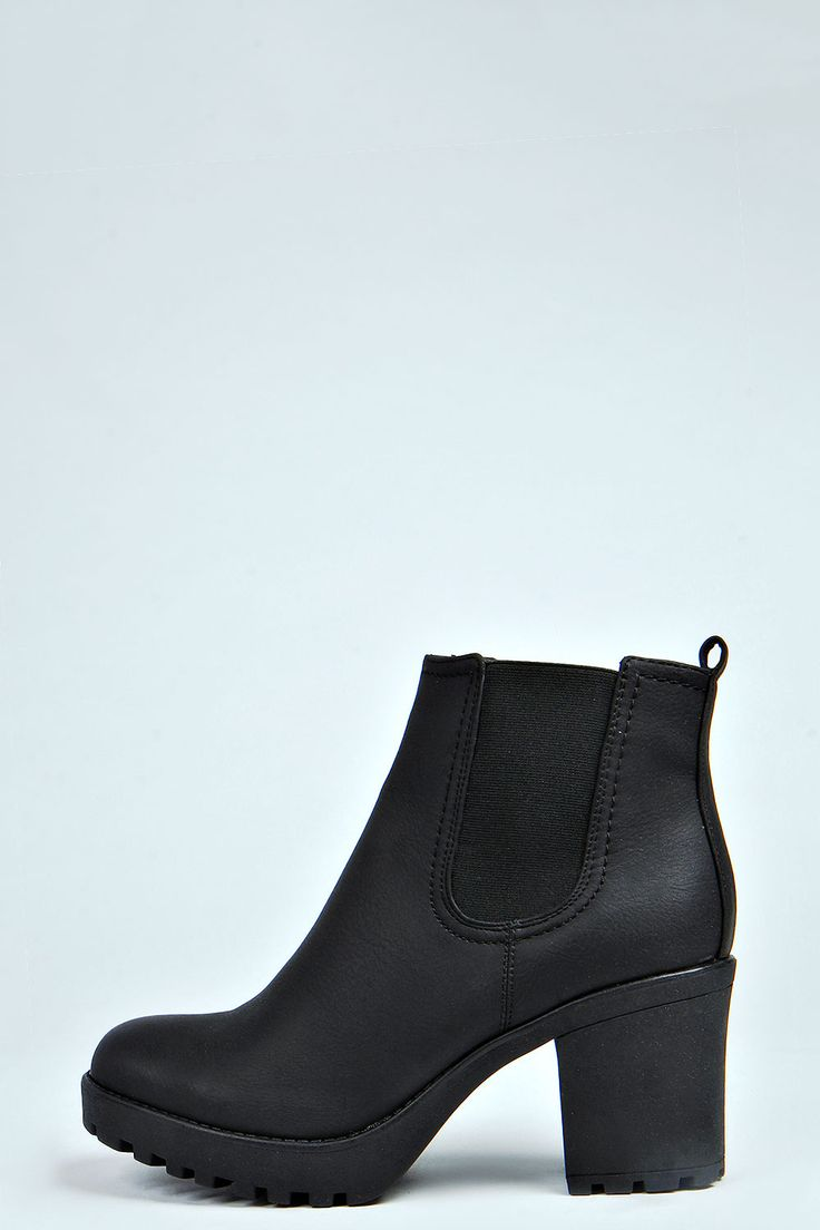 They're even named after me. Tia Chunky Cleated Heel Chelsea Boot