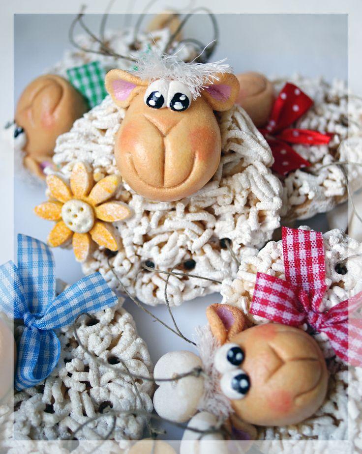 Salt Dough Easter Sheep