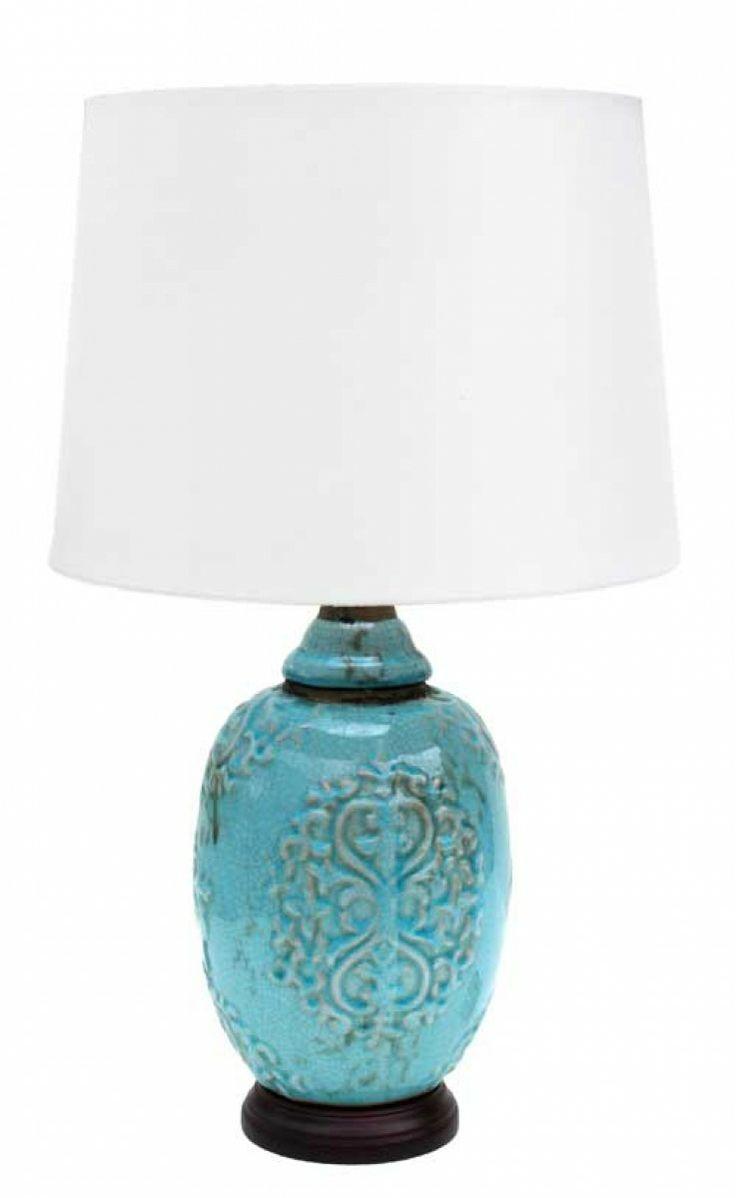 Earth de Fleur Homewares - Table Lamps Turquoise Heart Home Decor Set of 2