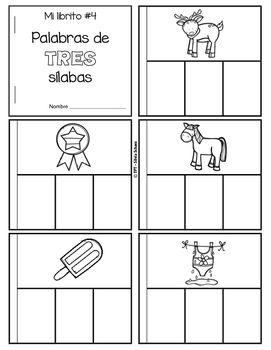 Yo aprendo las sílabas - Libritos de palabras de TRES sílabas