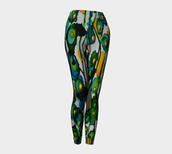 PRIMAVERA Leggings    Wearable Art Women-Teens Pants by JUST3Js
