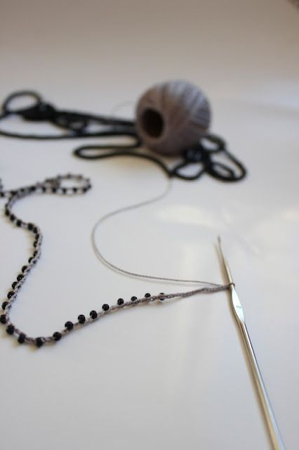 how to put beads in crochet