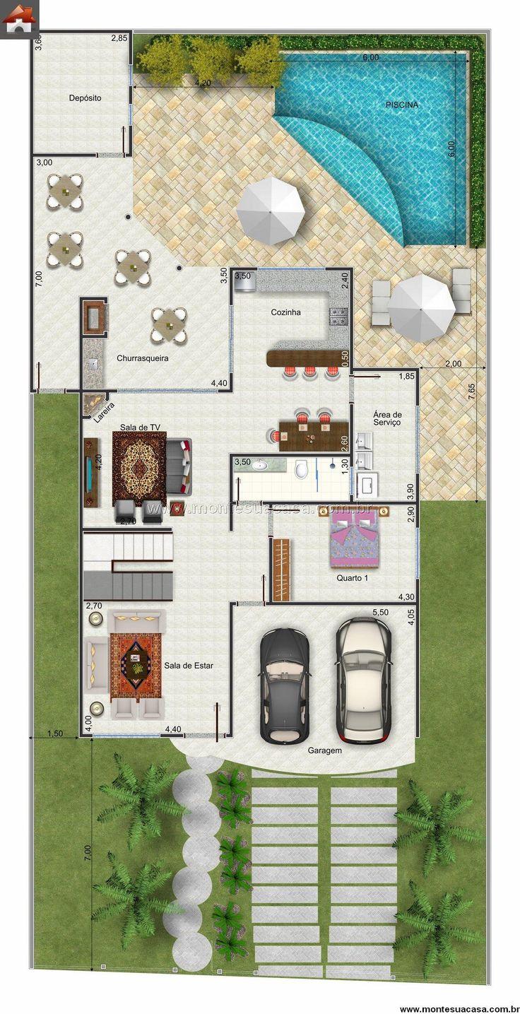 25 melhores ideias sobre planos de casa de campo no for Casas de campo pequenas con alberca