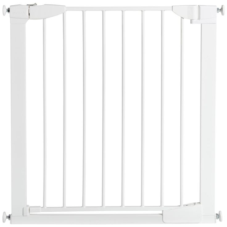 """Your safety gate shopping experience just got easier! Now Target offers multiple gate configurations to fit openings up to 54"""" wide using the necessary extension kits. Measure your opening and get the right fit for your home every time, only with Munchkin Baby Safety Gates!<br><br> You CAN have style and safety all in one. The Auto Close Metal Safety Gate by Munchkin is the ultimate in baby gate technology, with a sleek steel design that keeps little ones safe. Equipped ..."""