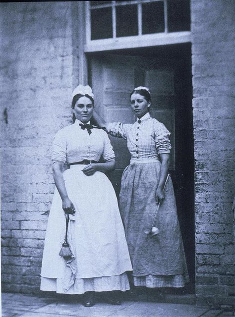 early 1870s. This is an interesting view of 2 domestic workers. They usually did not have their photo taken.