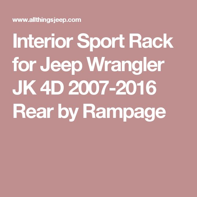 Interior Sport Rack for Jeep Wrangler JK 4D 2007-2016 Rear by Rampage