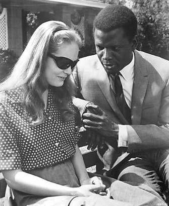 Sidney Poitier & Elizabeth Hartman in A Patch of Blue, 1965
