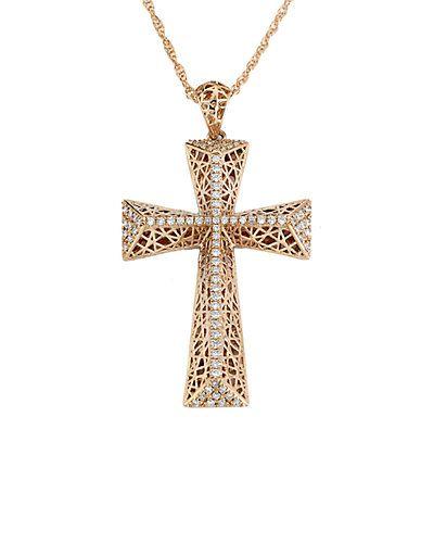 Rue La La — Samuel B. Fine Jewelry 14K Rose Gold 0.31 ct. tw. Diamond Necklace