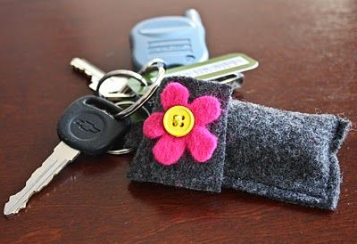 Chapstick holder keyfob