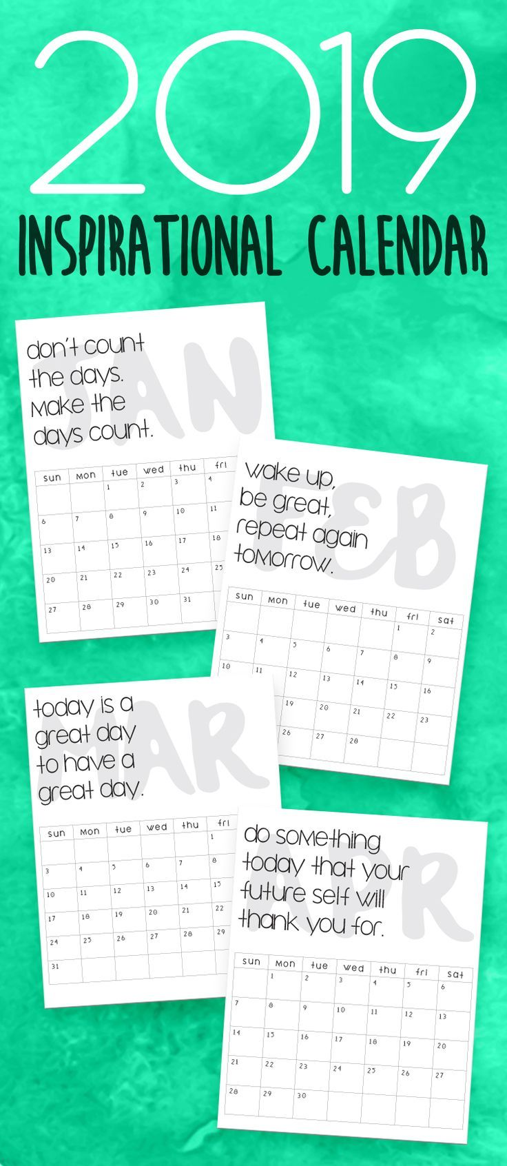 2019 Printable Calendars And Planners Pinterest