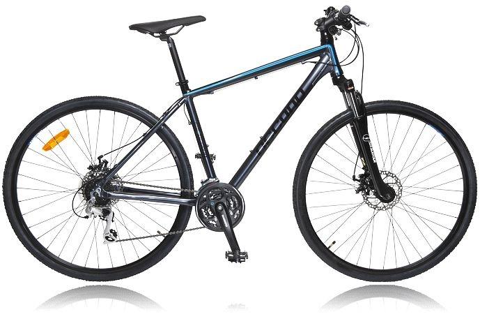 Cykel med stora lättrullande hjul som passar för all typ av terräng. OCCANO M HYBRID U310 S13. Se alla cyklar - http://www.stadium.se/sport/cykel/cyklar