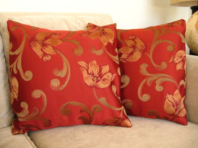 Autumn Throw Pillow Covers : Throw Pillow Covers 18x18 Blazing Fall Set of 2 by SpiderLaundry, $28.00 For the Home ...