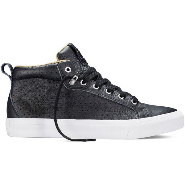 Converse All Star Fulton Leather – black Sneakers (71 CAD) ❤ liked on Polyvore featuring shoes, sneakers, black, converse footwear, converse trainers, leather footwear, kohl shoes and star sneakers