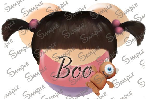 DIGITAL printable Do-It-Yourself Boo from Monsters Inc character inspired  Mickey head file can be personalized for you!