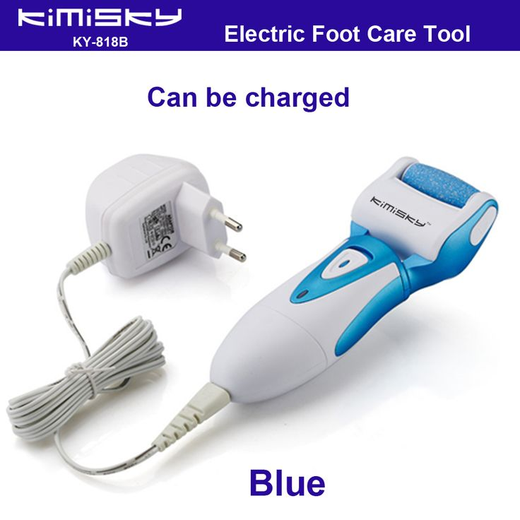 Blue charged waterproof pedicure electric tools Foot Care Exfoliating Foot Care Tool 1ps roller pedicure heads scholls function
