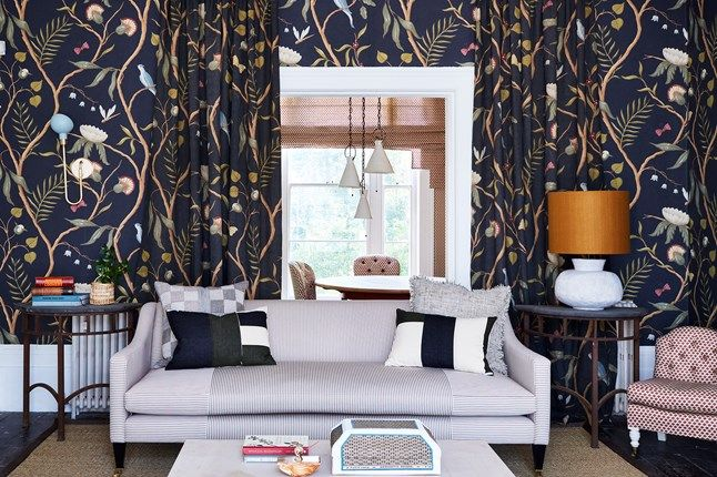 The 25+ best Matching wallpaper and curtains ideas on Pinterest   Curtains and wallpaper to ...