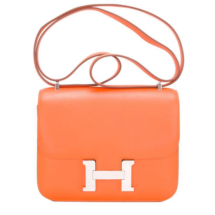 Hermes Constance Mini Bag 18cm Orange H Swift Palladium Hardware ...