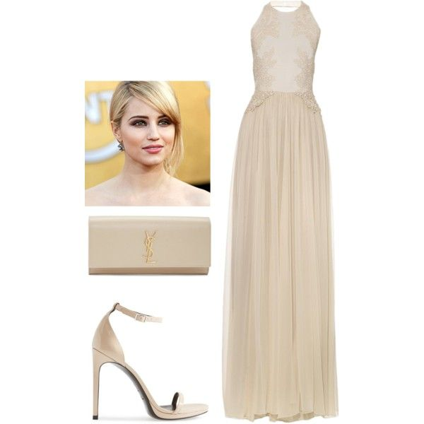 Untitled #1877 by adi-pollak on Polyvore featuring Elie Saab and Yves Saint Laurent