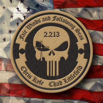CRAFT INTERNATIONAL OFFICIAL  4 inch Round Memorial Patch      100% of the proceeds from this item will be donated to the families of Chris Kyle and Chad Littlefield. $14.99