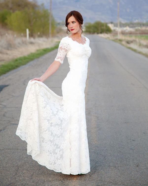45 Long Sleeved Wedding Dresses for Fall Brides - Wedding Party... THIS DRESS IS PERFECT!!!!!!!!!!