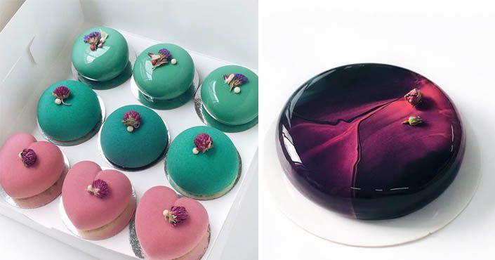 Kanadská cukrárka Ksenia Penkina vyrába zrkadlové torty, ktoré vyzerajú tak dokonale, až je skoro hriech ich zjesť. Vyzerajú ako kus lesklého kameňa, recept