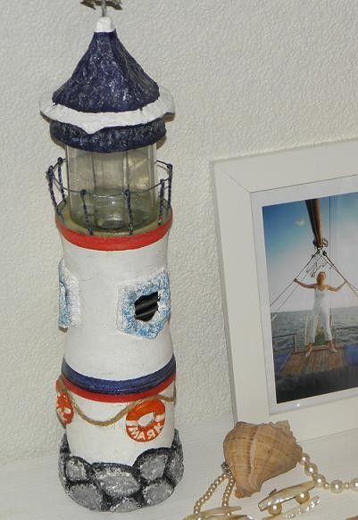 Маяк . Декор в морском стиле из бросовых материалов.