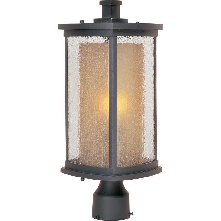 Bungalow Bronze One Light Outdoor Post Mount Maxim Lighting International Post Mounted Out