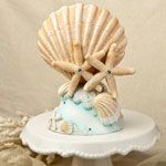 Beach cake topper with shell design 2500-fc