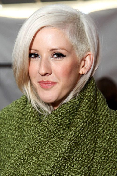 I love Ellie Goulding and I love the super blonde, but I hate the whole shave a section of my head bit.