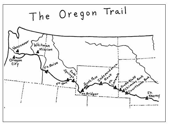Clean image within oregon trail map printable