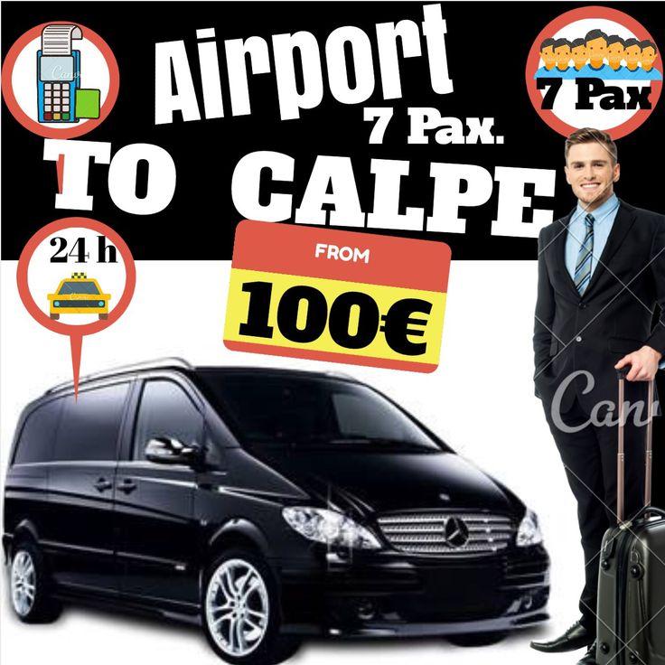 ALICANTE AIRPORT TO CALPE FOR 7 PAX. www.alicante-airporttransfers.com/en/