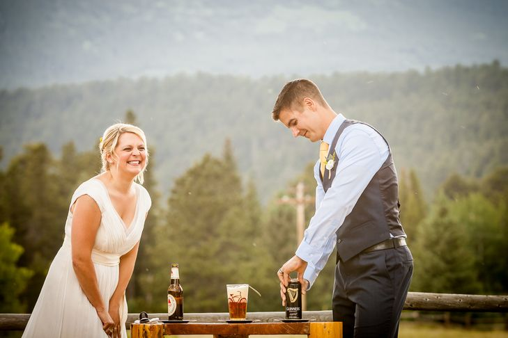This Couple Was Over Unity Ceremonies, So They Cracked Open A Beer Instead | Photo by: Libby Neder Photography | TheKnot.com