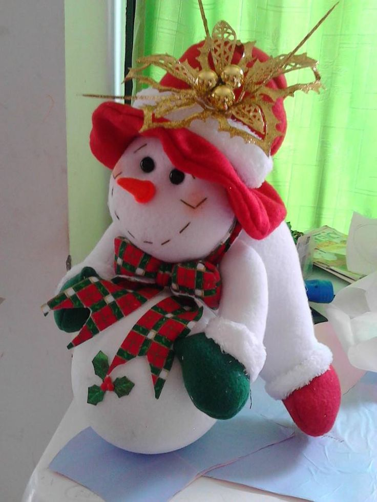 Christmas Snowman Felt Christmas Decorations Christmas Sewing