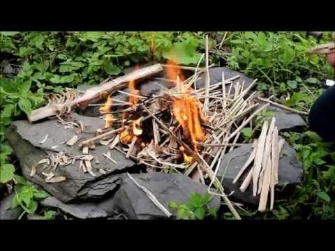how to make fire in wild