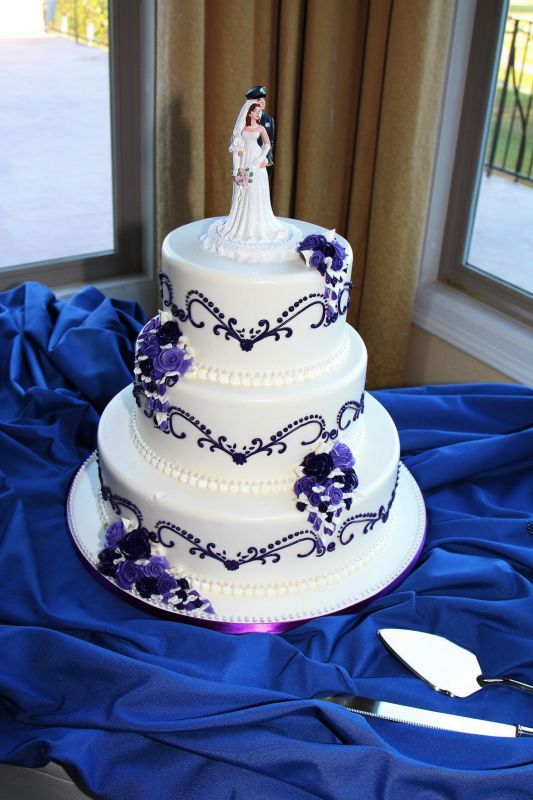 navy blue and purple wedding cakes royal blue wedding cakes royal blue and purple wedding 17759