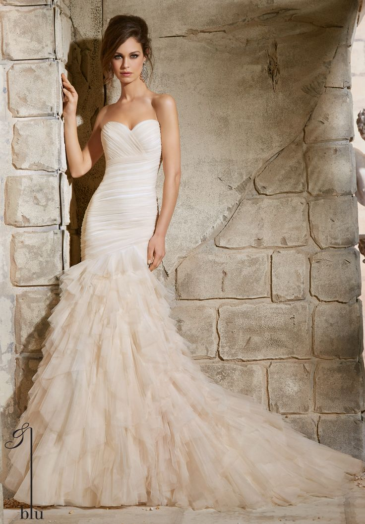 how much does the average wedding dress cost australia%0A I do Bridal  Mori Lee       Wedding Gowns   Dresses Asymmetrically Draped  Soft Net Gown with Ruffles