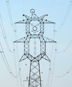 Best Electricity Images On Pinterest Transmission Tower - Architects turn icelands electricity pylons into giant human statues